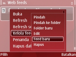 nokia feed reader